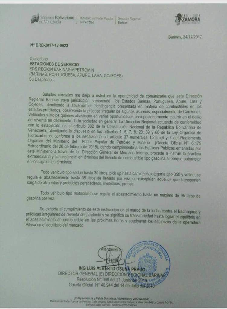 Documento de regulación de gasolina-acn