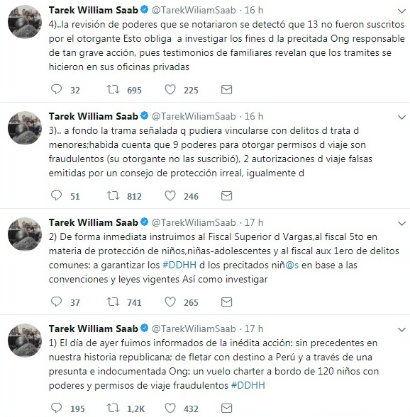 El fiscal general William Saab le ofreció golpes a un usuario en Twitter