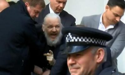 Julian Assange arrestado en Londres