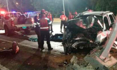 accidente en la autopista Francisco Fajardo - acn