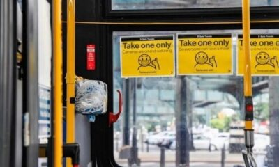 dispensadores mascarillas autobuses nueva york- acn