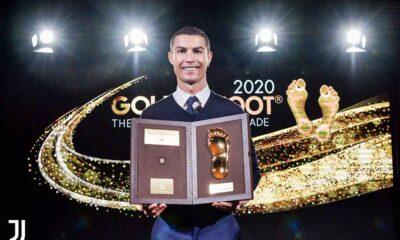 Cristiano Ronaldo recibe el Golden Foot - noticiasACN